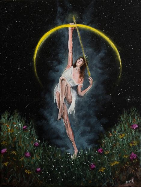 Diana - Acrylic on Canvas 30x40 - 2014 By: Arith Härger